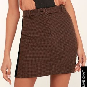 JOA Mini Houndstooth Mini Abbott Skirt